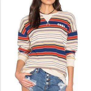 Obey Eva Thermal Long Sleeve Top size M